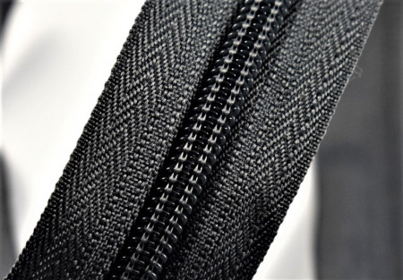 Fermoare nylon detasabil nr. 5 - 80 cm gri inchis