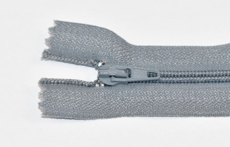 Fermoare nylon fixe nr. 3 - 20 cm gri