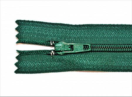 Fermoare nylon fixe nr. 3 - 20 cm verde