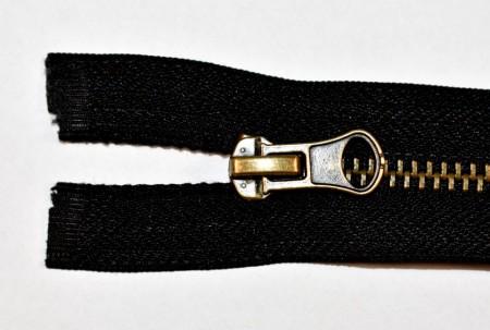 Fermoare metal detasabile nr. 5 - 75 cm negru