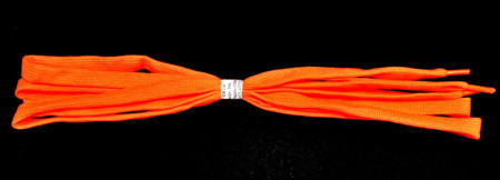 Sireturi 110 cm late - portocaliu neon