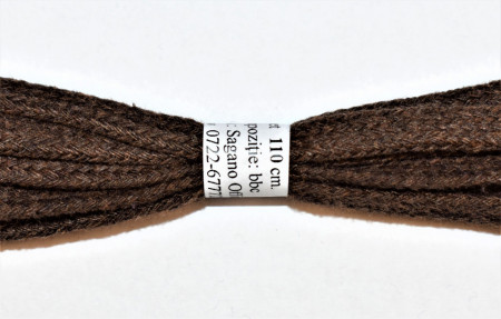 Sireturi bocanci 110 cm - maro - plate