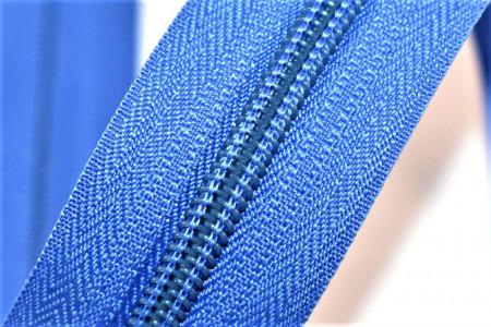 Fermoare nylon detasabil nr. 5 - 50 cm bleu