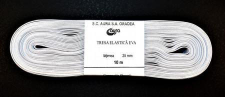 Tresa elastica Eva 25 mm - 10 m / rola alb