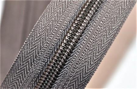 Fermoare nylon detasabil nr. 5 - 50 cm terra