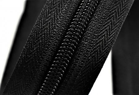Fermoare nylon detasabil nr. 5 - 90 cm negru
