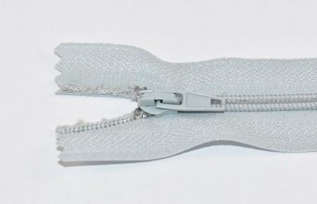 Fermoare nylon fixe nr. 3 - 20 cm gri deschis