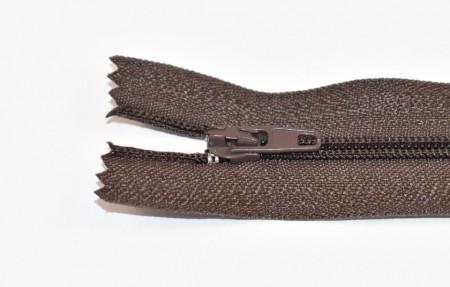 Fermoare nylon fixe nr. 3 - 20 cm maro inchis