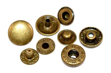 Capse geaca - antique brass - 15 mm