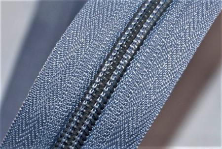 Fermoare nylon detasabil nr. 5 - 60 cm gri deschis