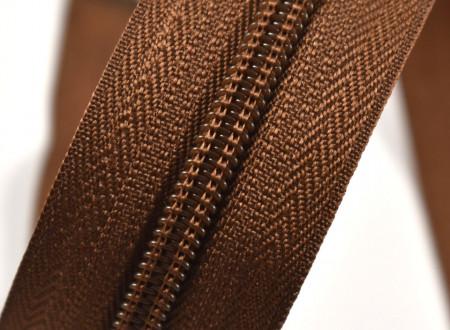 Fermoare nylon detasabil nr. 5 - 60 cm maro