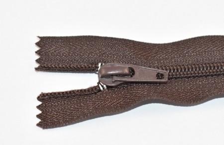 Fermoare nylon fixe nr. 5 - 30 cm maro