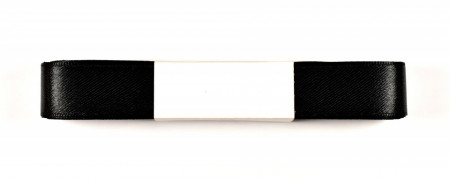 Panglica satin 20 mm - 10 m rola negru