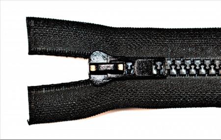 Fermoare plastic detasabile nr. 8 - 75 cm negru