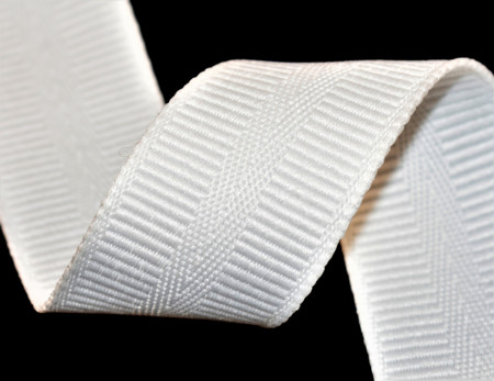Banda botez Denisa 35 mm - alb