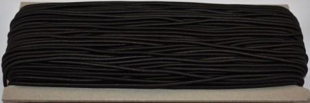 Elastic rotund 2.3 mm - 50 m negru