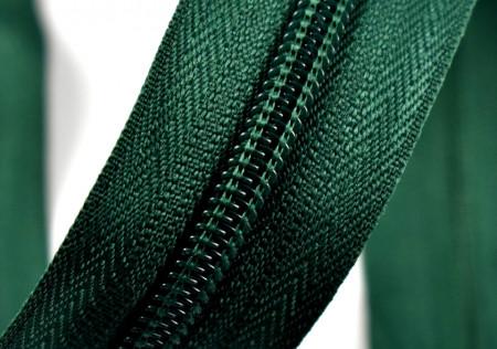 Fermoare nylon detasabil nr. 5 - 80 cm verde