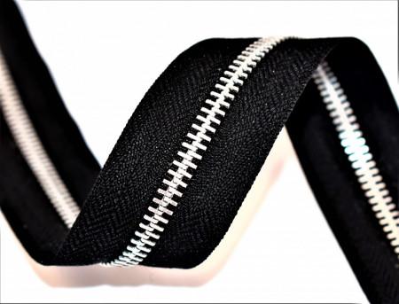 Fermoare aluminiu detasabile nr. 5 - 60 cm negru