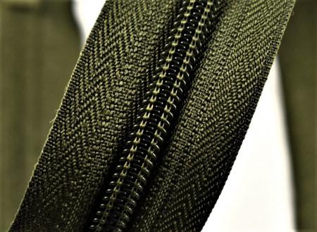 Fermoare nylon detasabil nr. 5 - 80 cm kaki