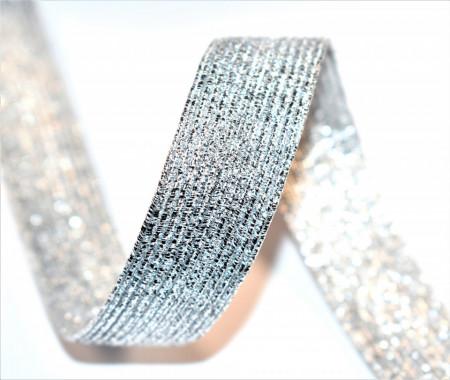 Elastic lurex 20 mm - 10 m rola - argintiu