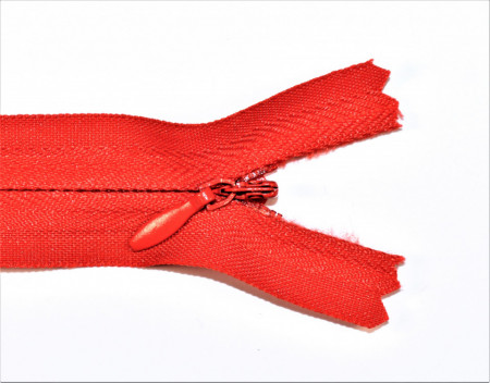 Fermoare ascunse 50 cm - cod 162 rosu