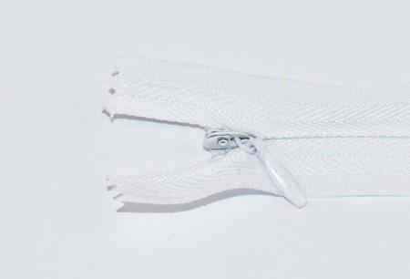 Fermoare ascunse nr. 3 - 20 cm alb