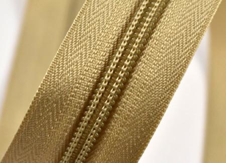 Fermoare nylon detasabil nr. 5 - 70 cm bej