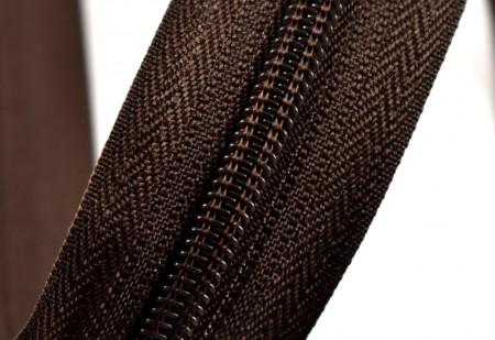 Fermoare nylon detasabil nr. 5 - 70 cm maro inchis