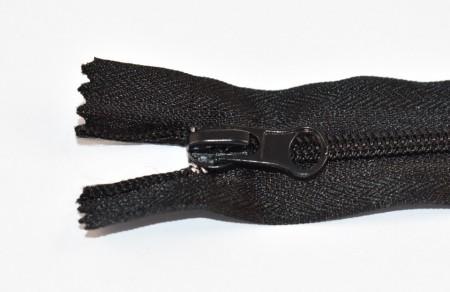 Fermoare nylon fixe nr. 5 - 30 cm negru
