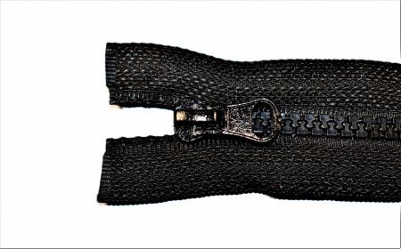 Fermoare plastic detasabile nr. 5 - 60 cm negru