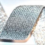 Elastic lurex 40 mm - 10 m / rola argintiu