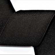 Elastic Moise 50 mm negru - 25 m rola