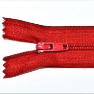 Fermoare nylon fixe nr. 3 - 20 cm rosu