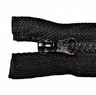 Fermoare plastic detasabile nr. 5 - 55 cm negru