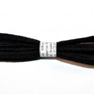 Sireturi bocanci 110 cm - negre - plate