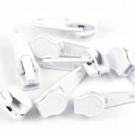 Cursori nr. 5 pentru fermoar nylon - alb