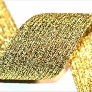 Elastic lurex 40 mm - 10 m / rola auriu