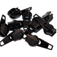 Cursori nr. 7 pentru fermoar nylon - negru