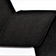 Elastic Moise 70 mm negru - 25 m rola