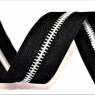 Fermoare aluminiu detasabile nr. 5 - 80 cm negru
