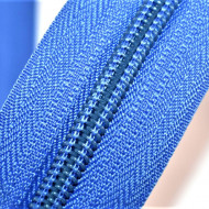 Fermoare nylon detasabil nr. 5 - 60 cm bleu