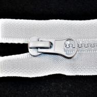 Fermoare plastic detasabile nr. 5 - 90 cm alb