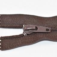 Fermoare nylon fixe nr. 5 - 35 cm maro