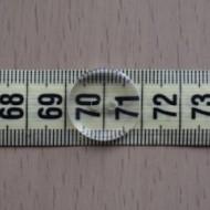 Nasturi lenjerie transparenti nr. 30 - 20 mm