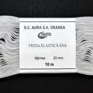 Tresa elastica Eva 20 mm - 10 m / rola alb