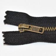 Fermoare metal fixe nr. 4 - 20 cm negru