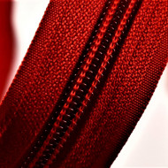 Fermoare nylon detasabil nr. 5 - 80 cm rosu