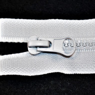 Fermoare plastic detasabile nr. 5 - 50 cm alb