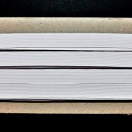 Tresa elastica Eva 12 mm - 20 m / rola alb