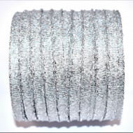 Banda Evelina 6 mm - 100 m rola argintiu